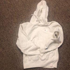UO cream champion hoodie